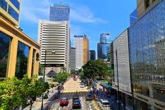 Дорога Chater, централь, Гонконг Стоковое Изображение RF