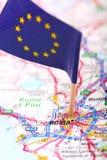 дорога roma карты Стоковые Изображения