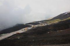 Дороги вулкана Сицилии Этна Стоковое Изображение RF