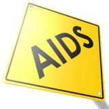Дорожный знак с СПИДОМ Стоковые Изображения