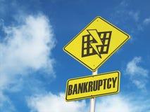 Дорожный знак Bankruptsy Стоковые Изображения