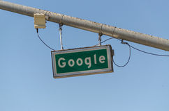 Дорожный знак Google Стоковые Фото