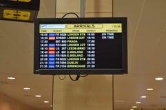 Доска прибытий авиапорта Стоковое фото RF