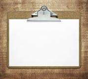 Доска сзажимом для бумаги Стоковые Изображения
