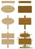 доска eps устанавливает деревянным Стоковая Фотография RF