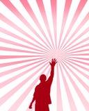 достигаемости человека руки поднимают вектор Стоковые Фотографии RF