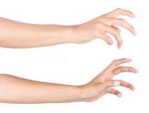достигаемость руки Стоковые Изображения RF