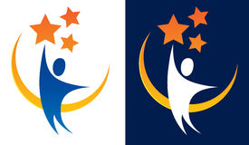 Достижение для логотипа звезд Стоковая Фотография RF