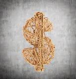 Доллар провода золота Стоковое Фото