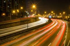 Долгая выдержка шоссе Сеула hangang Стоковое Изображение