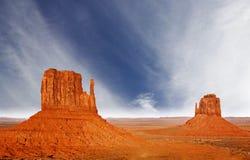 Долина памятника, Юта, США. Стоковые Фотографии RF