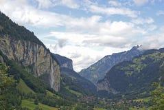Долина Lauterbrunnen Стоковое Изображение