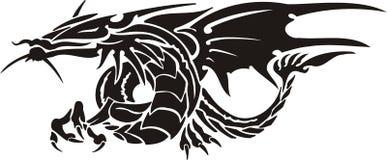 драконы горизонтальные Стоковые Изображения RF
