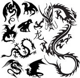 драконы Стоковые Изображения RF