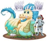 Дракон и рыцарь Стоковое Изображение RF