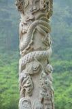 дракон колонки фарфора Стоковая Фотография