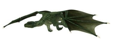 Дракон фантазии на белизне Стоковое фото RF