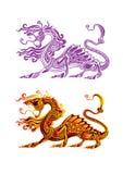 дракон fiery Стоковое Изображение
