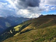 Драматический ландшафт в Альпах Стоковая Фотография RF