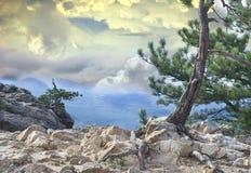 драматический горный вид Стоковая Фотография