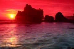 драматический заход солнца Стоковое Фото