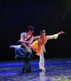 Драма танца балета- игры сказание героев кондора Стоковые Фотографии RF