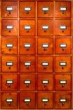 древесина архива архива ящиков карточки шкафа старая Стоковая Фотография