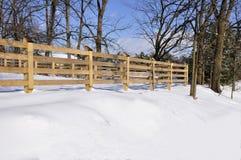 древесина зимы загородки Стоковое Изображение RF