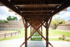 древесина моста Стоковые Фотографии RF
