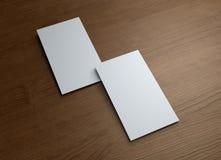 древесина таблицы визитной карточки 2 Стоковая Фотография RF