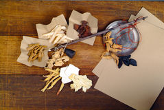 древесина травяной микстуры предпосылки китайская Стоковое Изображение RF