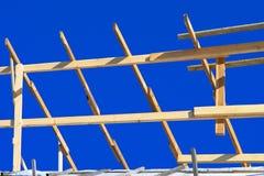 Древесины конструкции Строительная промышленность Стоковое Фото