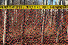 древесины места загородки злодеяния красные Стоковые Изображения