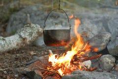 древесины пожара Стоковое фото RF