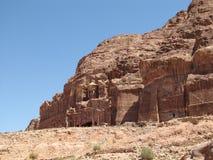 Древний город в утесе, руины Стоковое Изображение