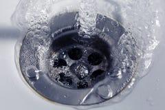Дренаж воды мытья Стоковое фото RF