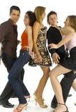 друзья танцы Стоковые Изображения