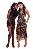друзья 2 афроамериканца Стоковое фото RF