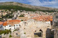 Дубровник. Старые городок и крепость Стоковые Изображения RF