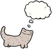 думать кота шаржа Стоковая Фотография RF
