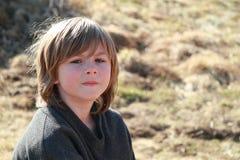 думать мальчика Стоковое фото RF