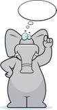 думать слона Стоковая Фотография