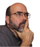 думать человека Стоковая Фотография RF