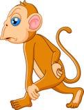 Думать шаржа обезьяны Стоковые Фото