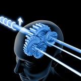 думать шестерен мозга Стоковая Фотография RF
