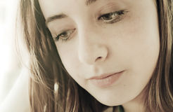 думать девушки подростковый Стоковые Фото