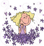 душите фиолеты Стоковые Фото
