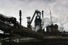 дымовая труба человека экологичности поведения Стоковое Фото