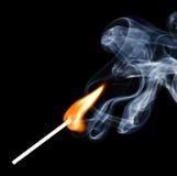 дым спички пожара Стоковая Фотография