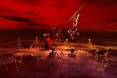 дьяволы сражения Стоковые Фото